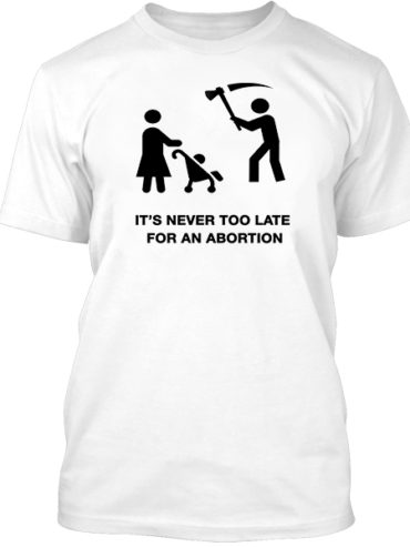 Never Too Late White Tee