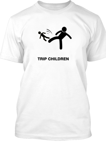 Trip Children White Tee